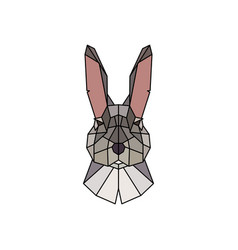 face of a rabbit polygonal style vector image