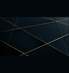 Gold lines on dark blue abstract luxury pattern vector