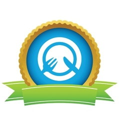 Gold lunch logo vector