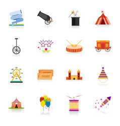 happy brazilian carnival day set of 16 carnival vector image