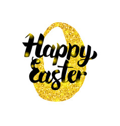 Happy easter handwritten inscription vector