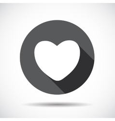 Heart Flat Icon with long Shadow vector