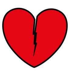 Heart love broken icon vector