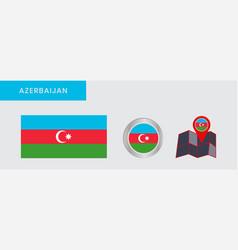 Horizontal three-color flag azerbaijan vector