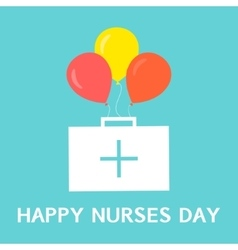 International nurses day poster vector