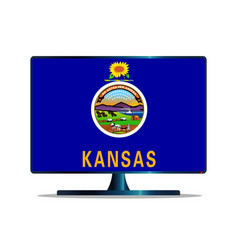 Kansas flag tv vector