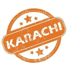 Karachi round stamp vector