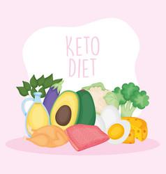 Keto diet vector