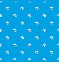kid tent pattern seamless blue vector image