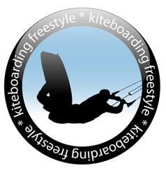 kiteboarding jump freestyle rider icon vector image