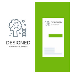 Knowledge dna science tree grey logo design and vector