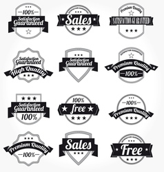 Labels retro design vector