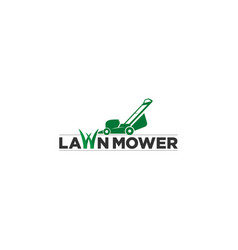 lawn mower logo icon vector image