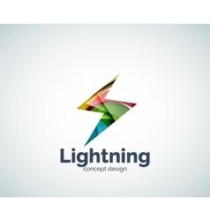 Lightning logo template vector image