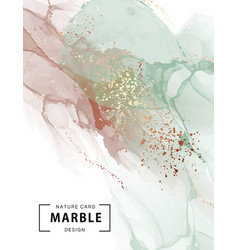 Marble ink watercolor paint pastel with gold foil vector
