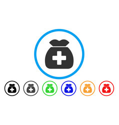 Medical capital fund rounded icon vector