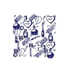 Medicine doodle vector