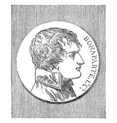 Napoleon bonaparte vintage vector