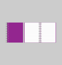 Notebook open notebook isolated objects vector