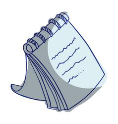 notebook school supply icon vector image