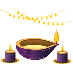 Oil aromateraphy candles vector