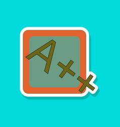 paper sticker on stylish background exam score vector image