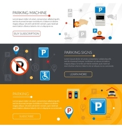 Parking Banners Set vector image