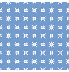 pattern 0067 flower and star vector image