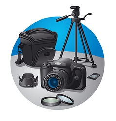 photography equipment vector image