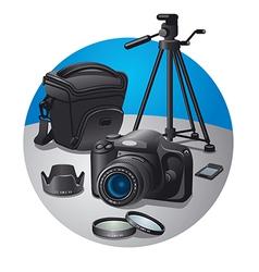 Photography equipment vector