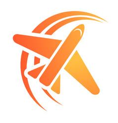 plane travel agency icon cartoon style vector image