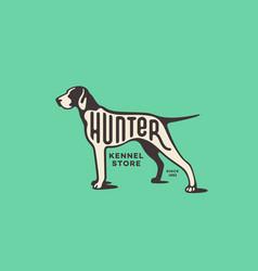 pointer dog logo vector image