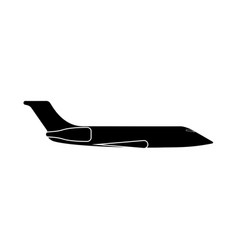 private airplane vector image