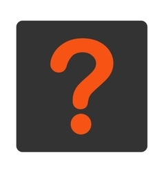 Question flat orange and gray colors rounded vector