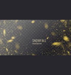 realistic snowfall against a dark vector image
