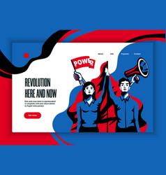 Revolution concept banner website vector