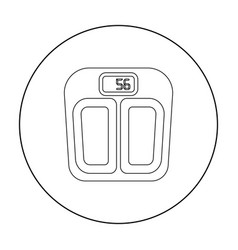 Scale icon in outline style isolated on white vector