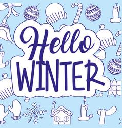 seasonal weather winter vector image