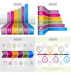 Set of business infographics design template vector