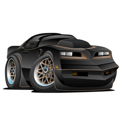 Seventies classic muscle car cartoon vector