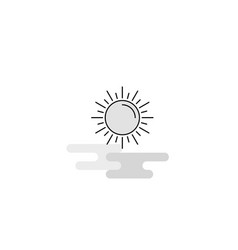 sun web icon flat line filled gray icon vector image