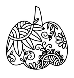 swirly patterned decorative pumpkin clip art vector image