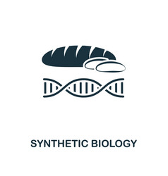 synthetic biology icon premium style design from vector image
