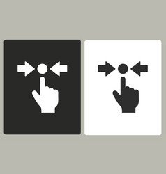Touch - icon vector
