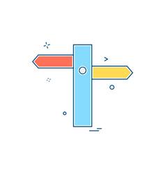 traffic signs board icon design vector image