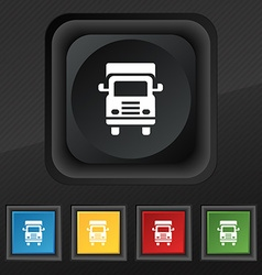 Transport truck icon symbol Set of five colorful vector image