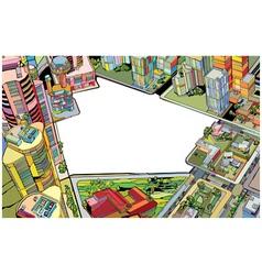 Urban city vector
