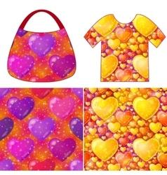 Valentine Seamless Patterns vector image