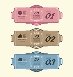 Vintage Design Labels infographic template vector image