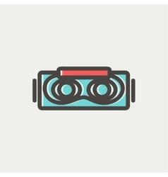 Virtual reality mask thin line icon vector